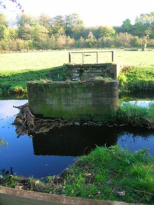 Annick Water - The dismantled bridge at Lainshaw after the drowning in 2007.