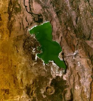 Lake Elmenteita - Lake Elmenteita, as seen from space.