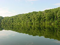 Lake Lindsey in David Crockett State Park (June 2005).jpg