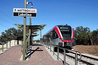 Capital MetroRail commuter rail system in Austin, Texas