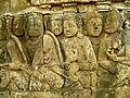 Lalitavistara - 034 S-18, The Brahmins interpret the Queen's Dream (detail, lower right) (8598190573).jpg