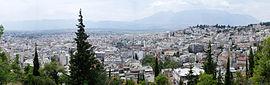 Panoramiczny widok Lamia, zaczerpnięte z zamku