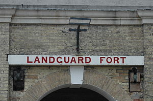 Landguard Fort - The sign at Landguard Fort Felixstowe