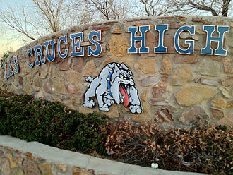 """Las Cruces High School - LCHS """"Bulldawgs"""" emblem"""