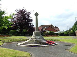 Burscough - Image: Lathom and Burscough war memorial