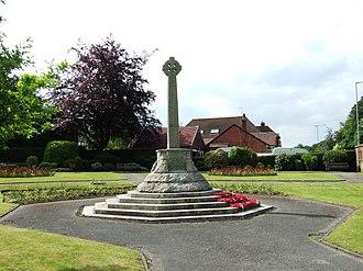 Burscough - Image: Lathom and Burscough war memorial