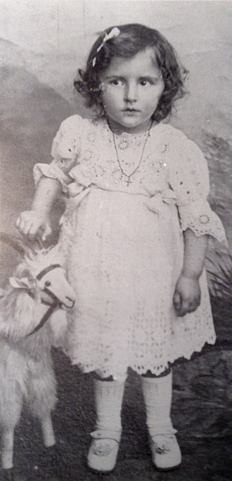 Laure Gatet - Laure Gatet at the age of two years.