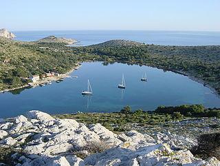 Lavsa island in central Dalmatia, Croatia