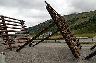 Snow fence - Portable snow fences in Austria.