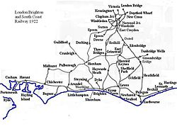 Map of the LB&SCR routes in 1922