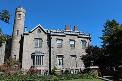Leland Castle, New Rochelle, NY (Rear View & Courtyard).JPG