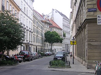 Josefstadt - A typical residential area quite close to the city centre. The street pictured here, Lenaugasse, is named after Nikolaus Lenau.