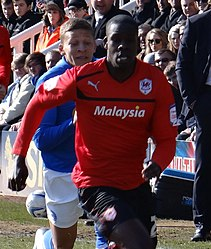 Leon Barnett, Cardiff City, 30 March 2013 (cropped).jpg