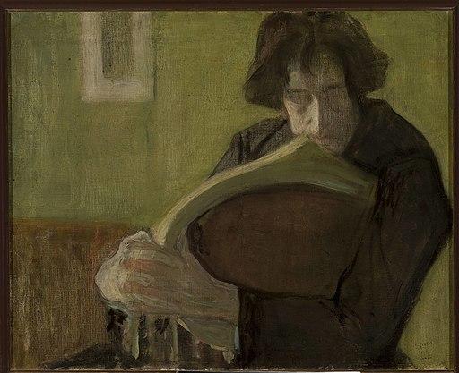 Leopold Gottlieb - Man sitting in a chair. Portrait of Mieczysław Jakimowicz - MPW 793 MNW - National Museum in Warsaw