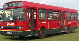 Buses in London - A post-privatisation London bus bearing private operator branding