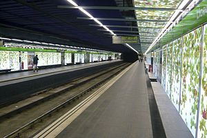 Liceu (Barcelona Metro) - View of the platforms in 2008