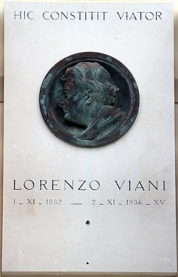 Lido di camaiore, casa natale di lorenzo viani, 02 lapide.jpg