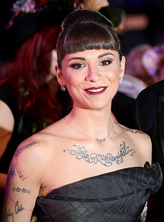 Jake Gosling - Christina Perri on the red carpet of the 2014 Life Ball