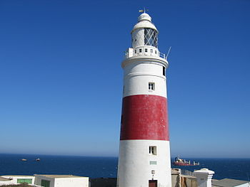 English: Lighthouse at Europa Point, Gibraltar...