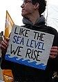 Like the sea level, we rise, Berlin 08.02.2019 (cropped).jpg