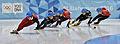 Lillehammer 2016 - Short track 1000m - Men Finals - Daeheon Hwang, Wei Ma, Shaoang Liu, Kiichi Shigehiro and Andras Sziklasi 6.jpg