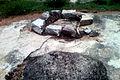 Lime Mortar traces at Ghanikonda Buddhist ruins.jpg