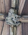 Lincoln Cathedral Cloisters, roof boss, 11th from E. (39479372385).jpg