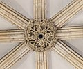 Lincoln Cathedral west entrance, central roof boss (25392456307).jpg