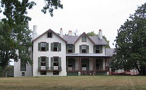 President Lincoln's Cottage at the Soldiers' Home - Lincoln Cottage under restoration in 2007.