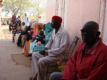 Southern Sudanese wait in line to vote at poll...