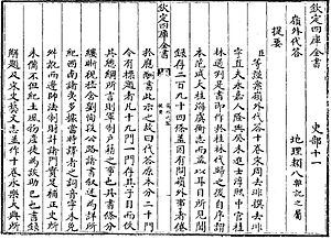 Lingwai Daida - Introduction to Lingwai Daida in Siku Quanshu