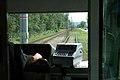 Litvínov, meziměstská tramvajová trať, výhled na trať.JPG