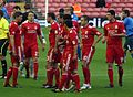 Liverpool players before match vs Rabotnicki cropped.jpg