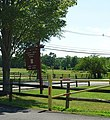 Loantaka Brook Reservation bikeway sign and entrance.jpg