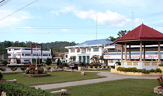 Poblacion - The población of Loboc, Bohol, showing structures typical to most town centres: the plaza, town hall, gazebo, and arena
