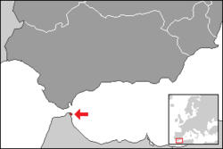 Location of the Autonomous City of Ceuta