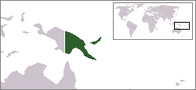 A map showing the location of Papua New Guinea