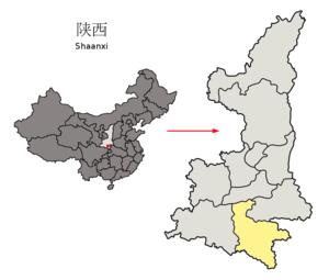 Ankang - Image: Location of Ankang Prefecture within Shaanxi (China)