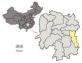 Location of Zhuzhou Prefecture within Hunan (China).png