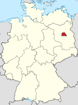 Locator map Berlin in Germany.svg