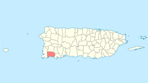 Location of Lajas in Puerto Rico