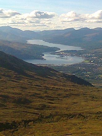 Loch Eil - Loch Eil and head of Loch Linnhe from the slopes of Carn Mòr Dearg.