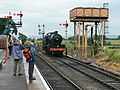 Loco number 88 about to take on water, WSR Bishops Lydeard - geograph.org.uk - 471807.jpg