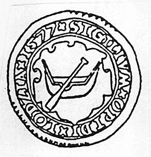 Łódź - Sigillum oppidi Lodzia - seal dating back to 1577