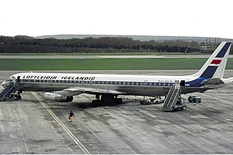 Icelandic Airlines Flight 001 - A DC-8 similar to the one involved.