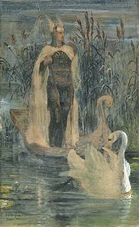 Lohengrin character in German Arthurian literature, son of Parzival (Percival)