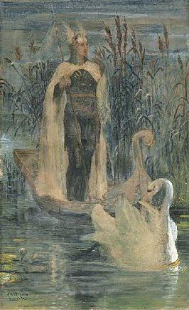 Lohengrin or Swan King door Walter Crane (1895)