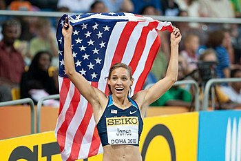 LoLo Jones during Doha 2010 World Indoor Champ...
