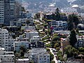 Lombard Street from Coit Tower, June 2017.JPG