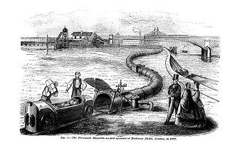 London Pneumatic Despatch Company - Testing at Battersea